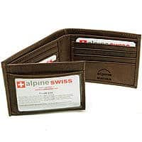 Sears Deal: Alpine Swiss Genuine Leather Men's Wallet  Bifold Trifold Hybrid Foldout ID Case @ Sears Marketplace for $11 + Free Shipping