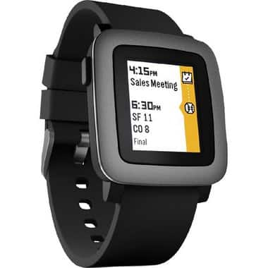 Pebble Time Smartwatch New - Black Silicone for $59.88 @BrandsMart USA