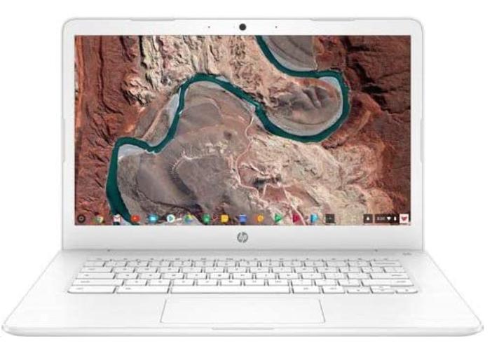"HP 14 14"" Chromebook Intel Celeron N3350 4GB RAM 32GB eMMC Snow White $159"