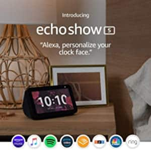 Certified Refurbished Echo Show 5 (1st Gen, 2019 release) – Compact smart display with Alexa $49.99