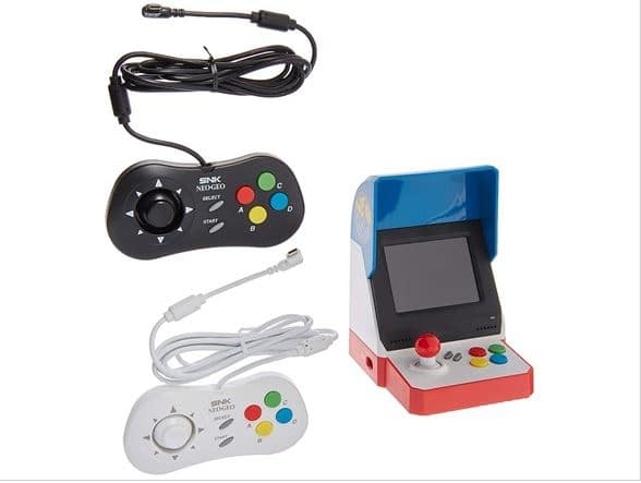Neogeo Mini Pro Player Pack USA Version - Includes 2 Game Pads (1 Black & 1 White) and HDMI Cable - Neo Geo Pocket $74.99 at Woot
