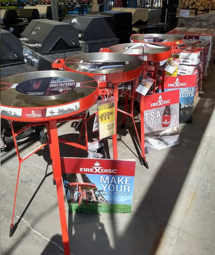 Home Depot in-store FireDisc 36-in tall Tailgating Portable Propane Cooker Grill, Red $200 YMMV