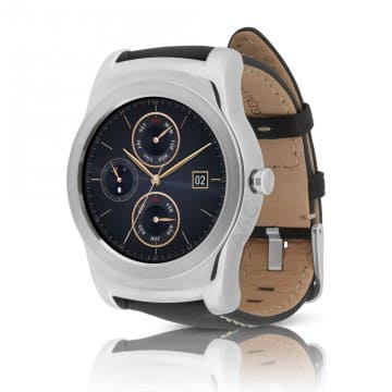 A4C LG Watch Urbane (W150) Smartwatch w/ Leather Wristband - Silver (Refurbished) $129.95
