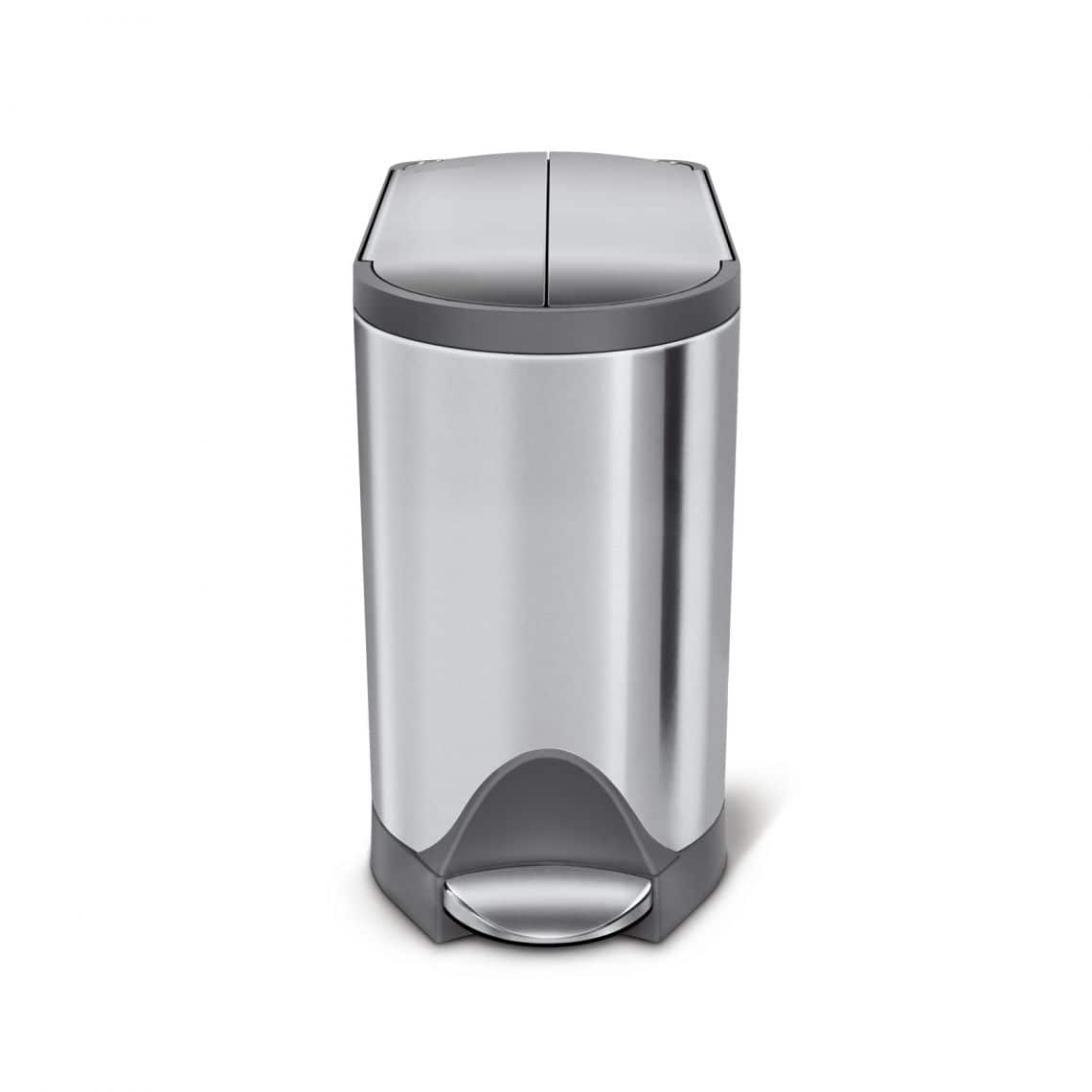 Simplehuman 10L Butterfly step can Brushed Grey trim $30