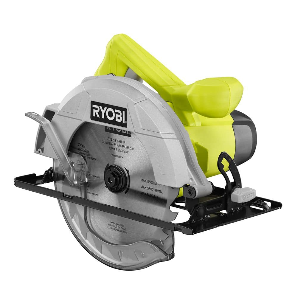 "Ryobi 13-Amp 7-1/4"" Corded Circular Saw Certified Pre-owened (1-Year Reconditioned Warranty) Free Shipping $12.59"