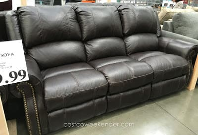 Berkline Leather Reclining Loveseat, Sofa - Costco in store. - $399 or less YMMV