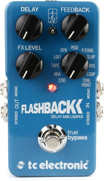 TC Electronic Flashback guitar delay /looper combo pedal with toneprint