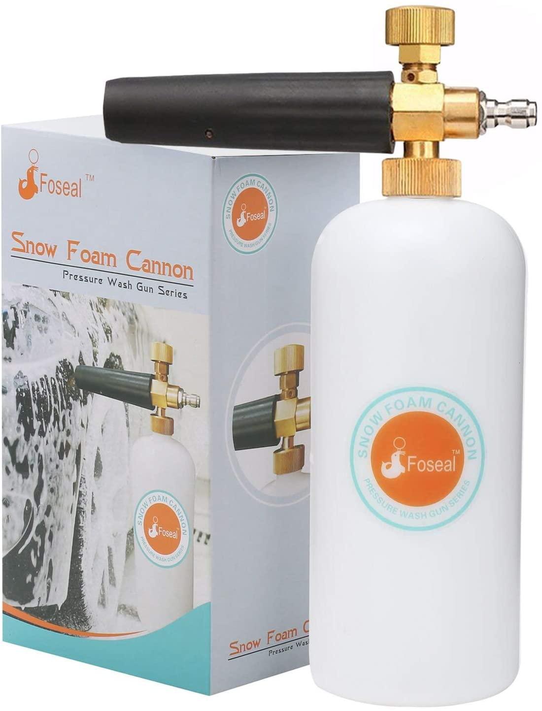 Amazon.com: Foseal Snow Foam Lance Jet Wash Pressure Car Washer Foam Cannon 1L Bottle Adjustable Thick/Watery Soap Foam $12.49