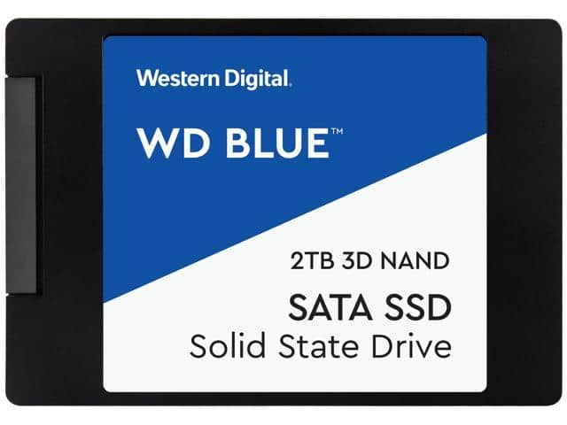 WD Blue 3D 2TB Internal SSD [3D NANA, SATA III] for $174.99 w/ FS after code