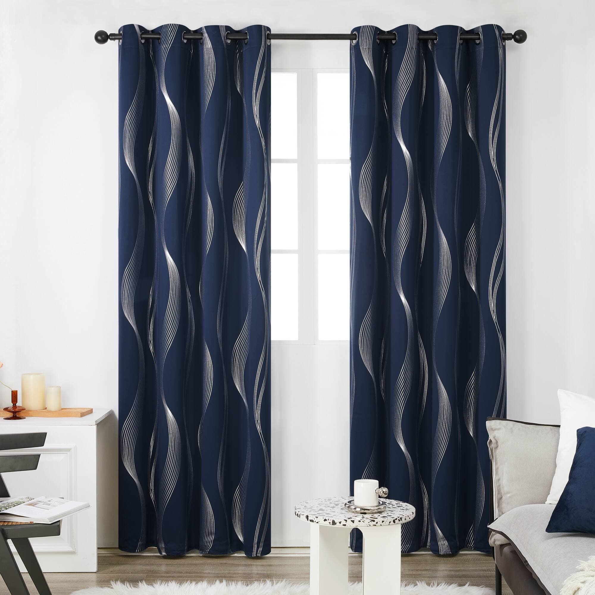Deconovo Foil Print Blackout Curtains For $16.57 + Free Shipping w/ Prime