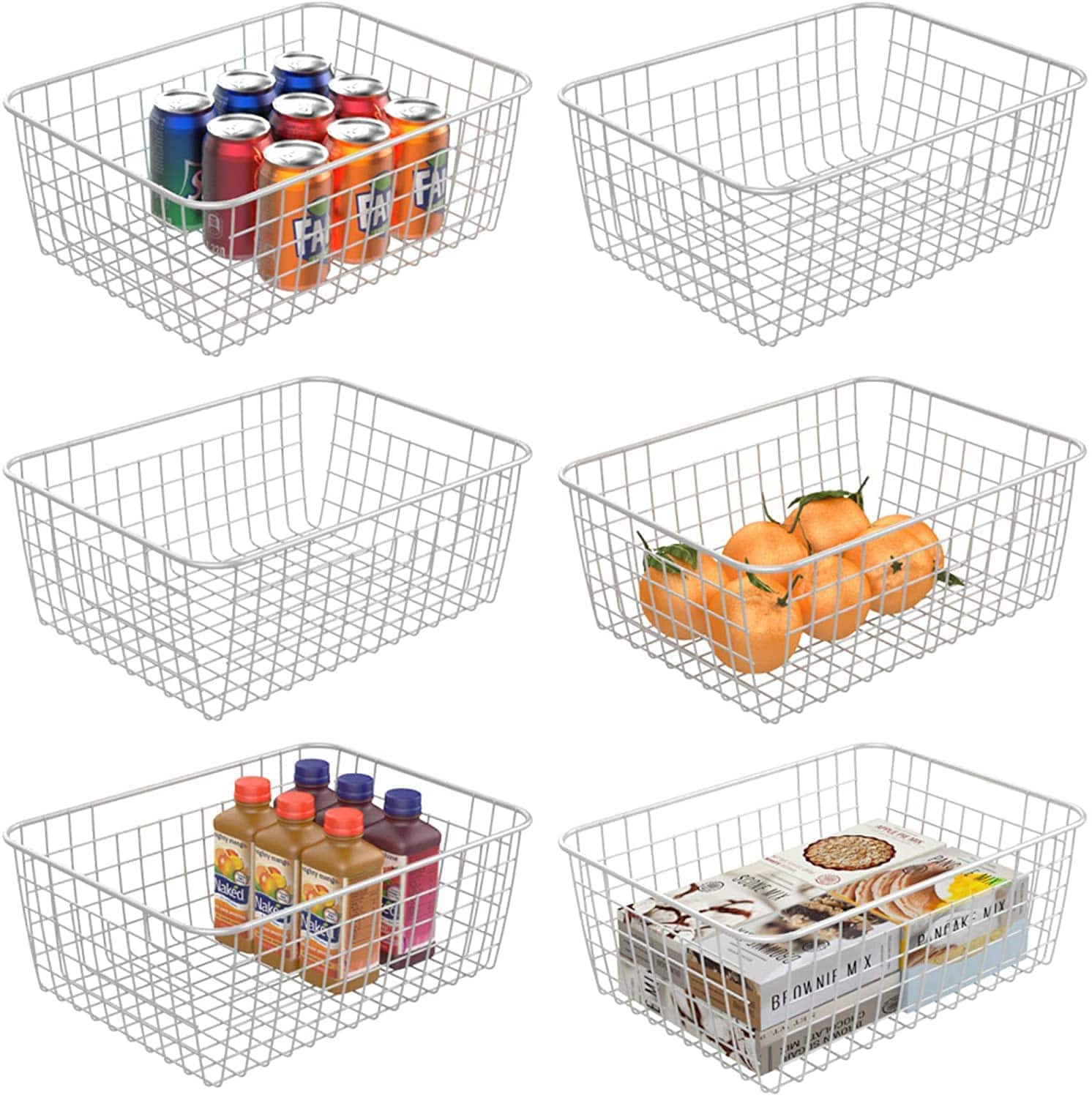 iSPECLE 6 Pack Medium & Small Wire Basket For $24.99