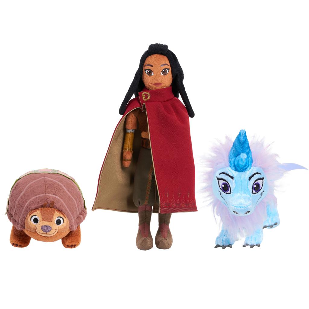 Disney Raya and the Last Dragon Small Plush Bundle Pack, Raya, Tuk Tuk, and Sisu, Preschool Ages 3 up by Just Play - $6.03