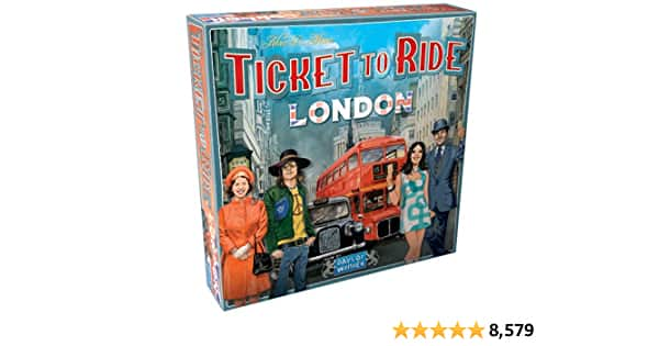 Ticket to Ride London Board Game   Family Board Game   Board Game for Adults and Family   Bus Game   Ages 8+   For 2 to 4 players   Average Playtime 10-15 minutes   Made  - $14