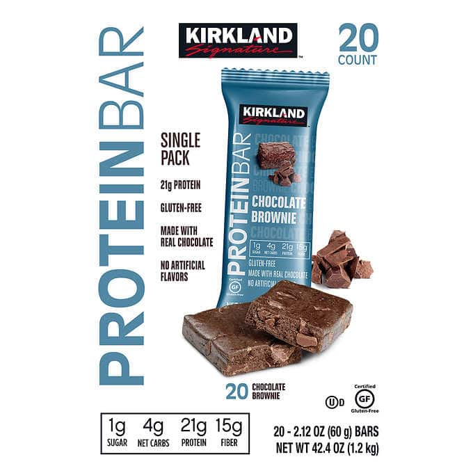 Kirkland Signature Protein Bars  20 Ct. Only $11.99 through 4/19 @ Costco B&M
