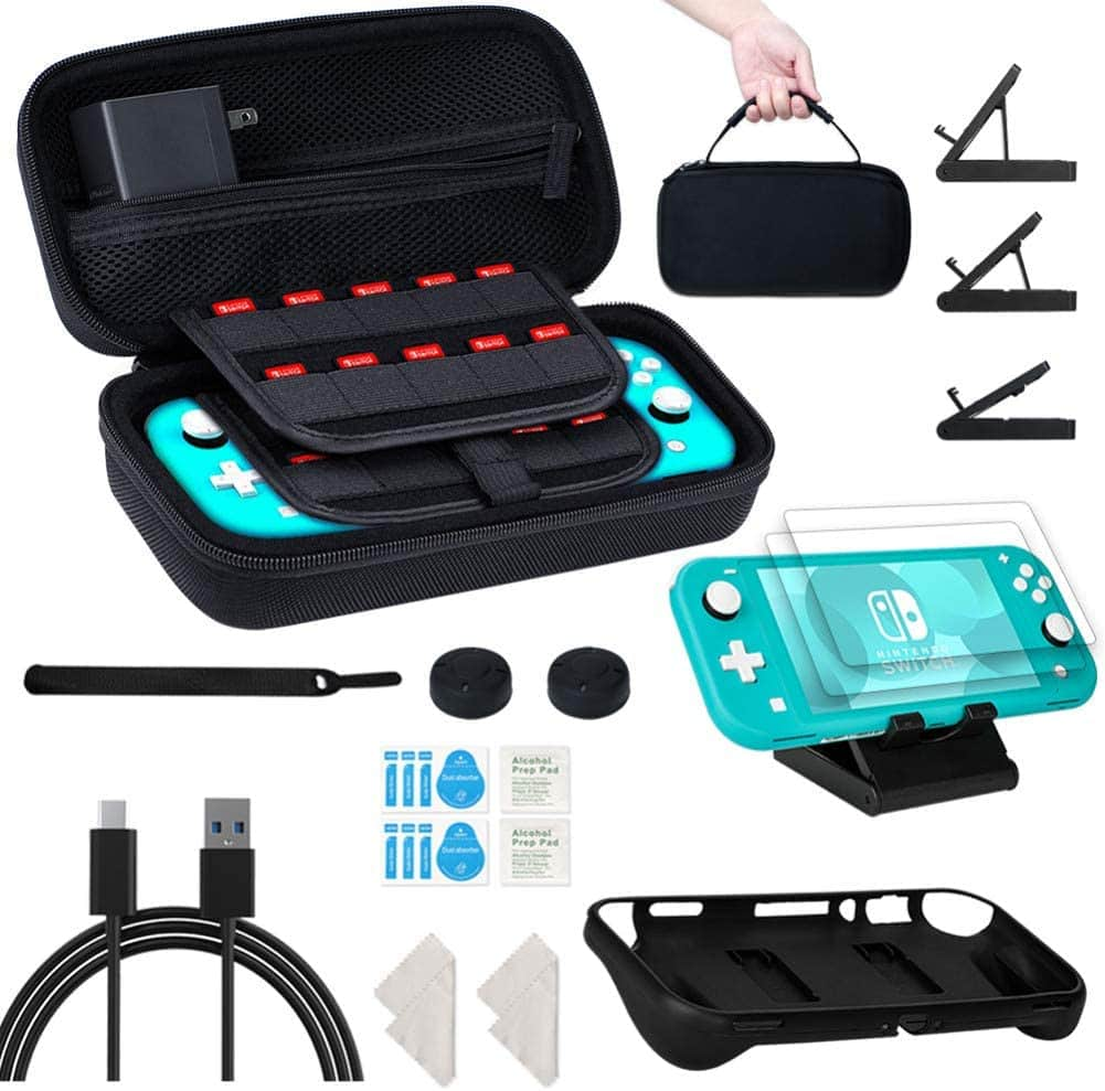 8 in 1 Carrying Case Compatible with Nintendo Switch Lite for $15.59+FS w Prime