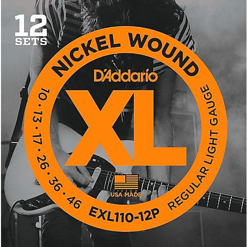 D'Addario EXL110 12 Pack Nickel Wound Light Electric Guitar String (SDoTD) $34.99
