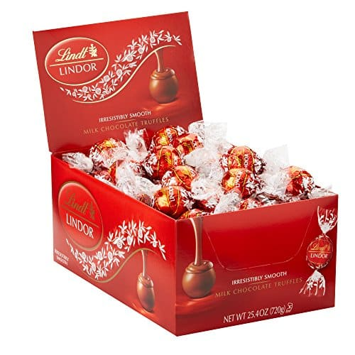 Lindt LINDOR Milk Chocolate Truffles, Kosher, 60 Count Box, 25.4 Ounce $12.99