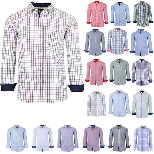 Alphabetdeal- Men's Slim-fit Dress Shirts (3 pcs) for $11.32 each , Plus Free Shipping (Various Colors)