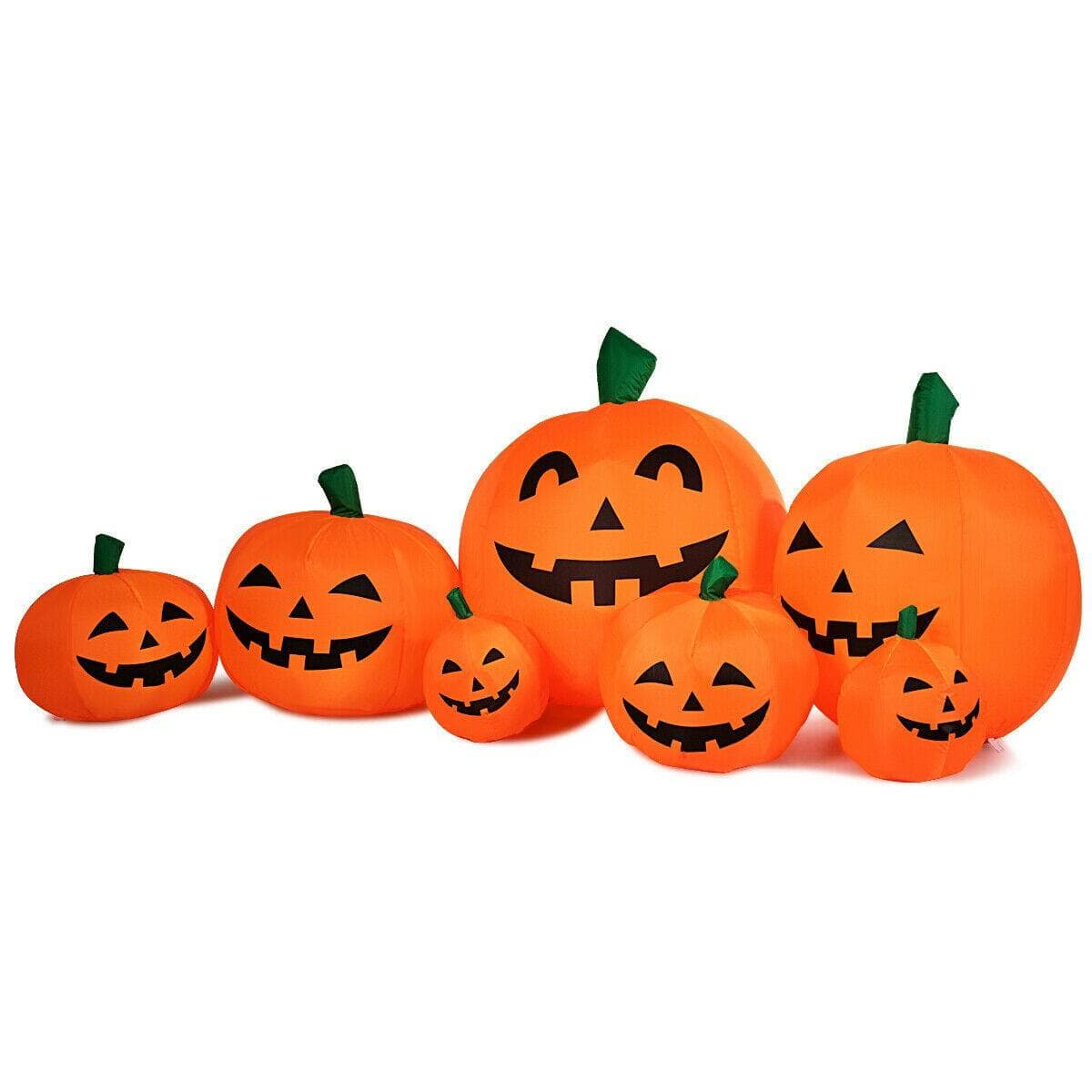 Costway 7.5 Feet Halloween Inflatable 7 Pumpkins Patch with LED Lights $39.95 + Free Shipping