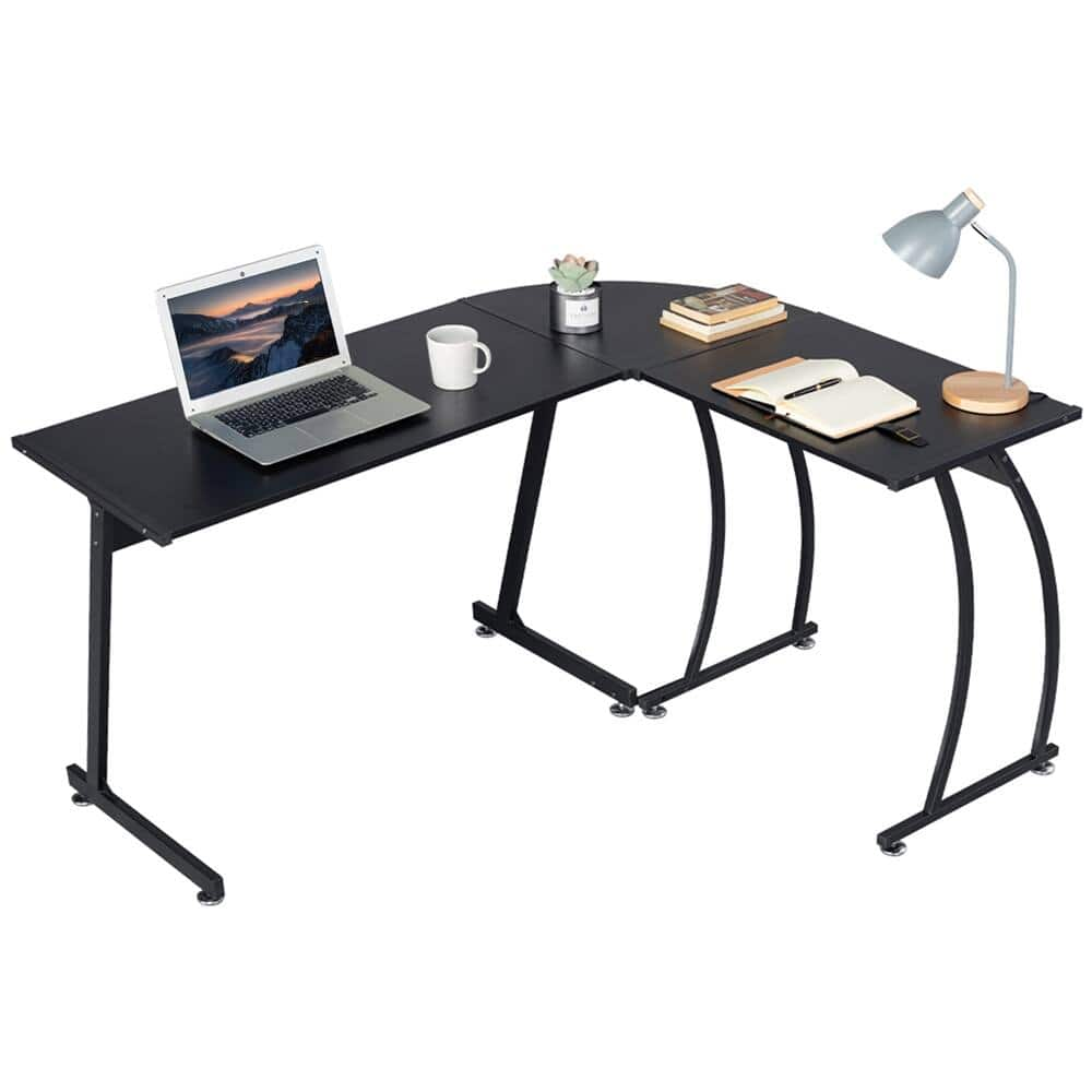 Costoffs Corner Computer Desk L-shaped Home Office Work Table Wood Large 3-Piece PC Laptop Table Workstation $68.99 + Free Shipping