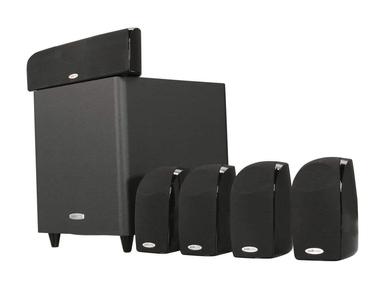 Polk Audio TL1600 5.1 Compact Surround Sound Home Theater System with Powered Subwoofer $149