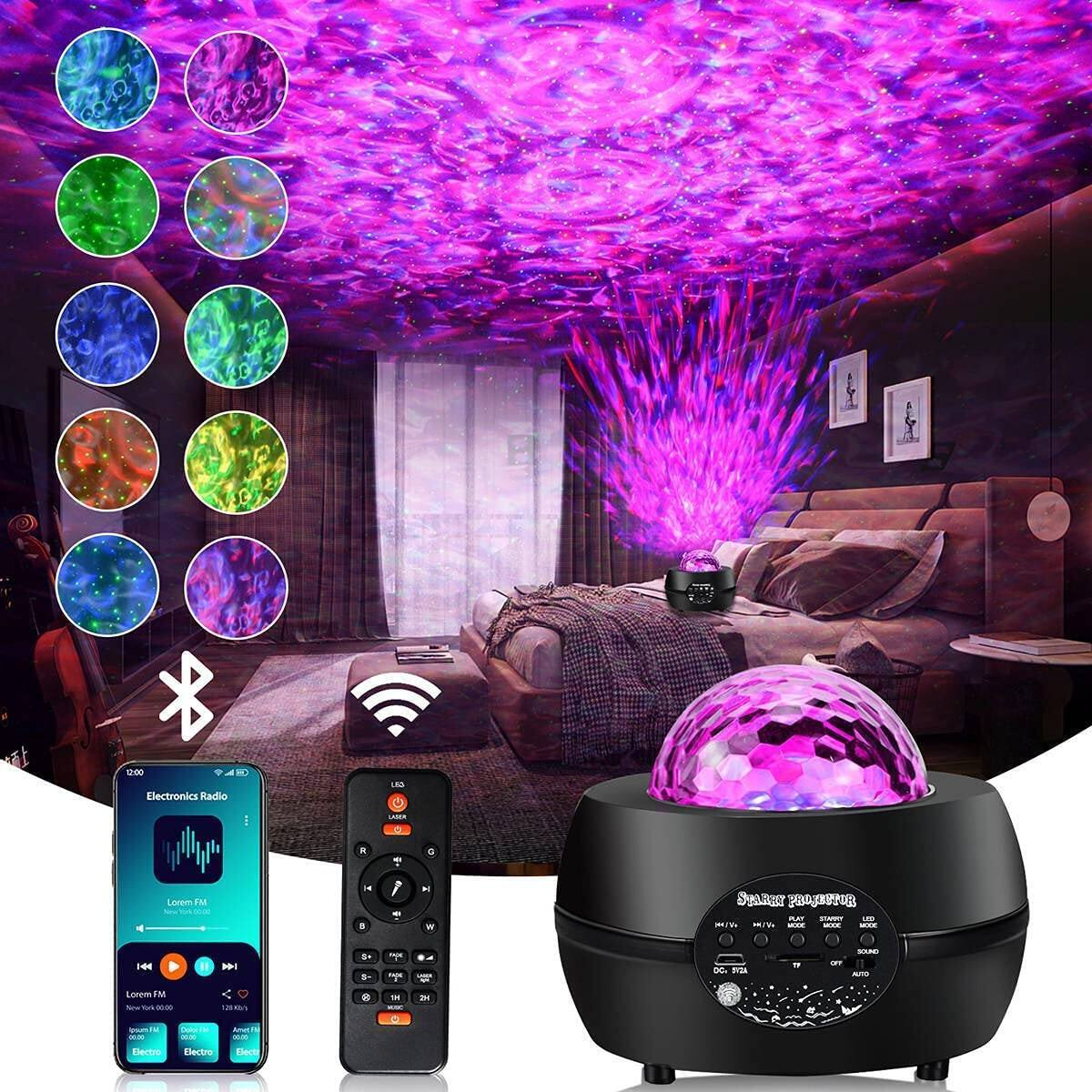 Romwish Remote Control Star Projector Night Light with Bluetooth Speaker - $13.99 + Free Shipping