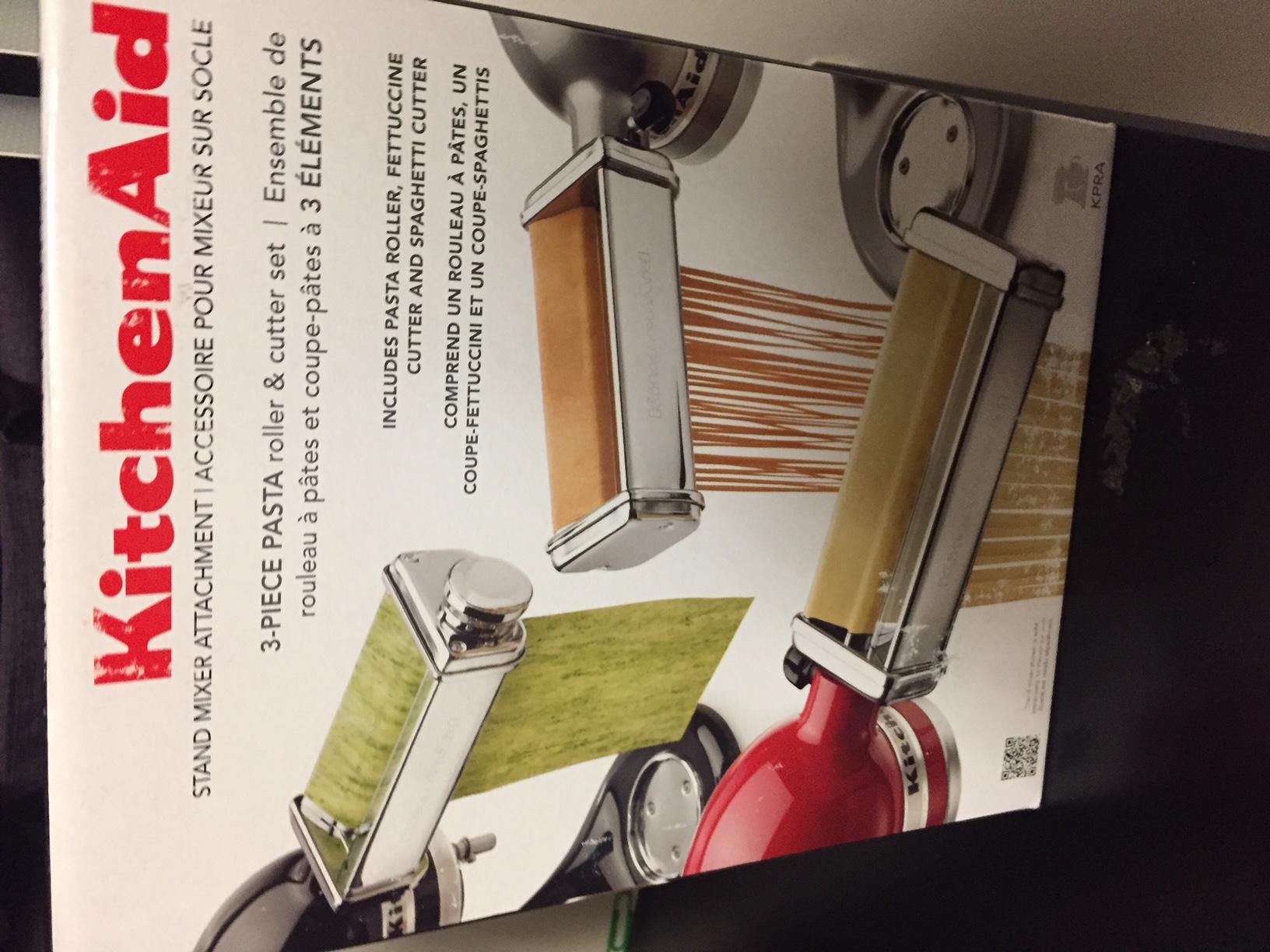 Kitchenaid 3 Piece Pasta Roller Cutter Attachment Set 89 99