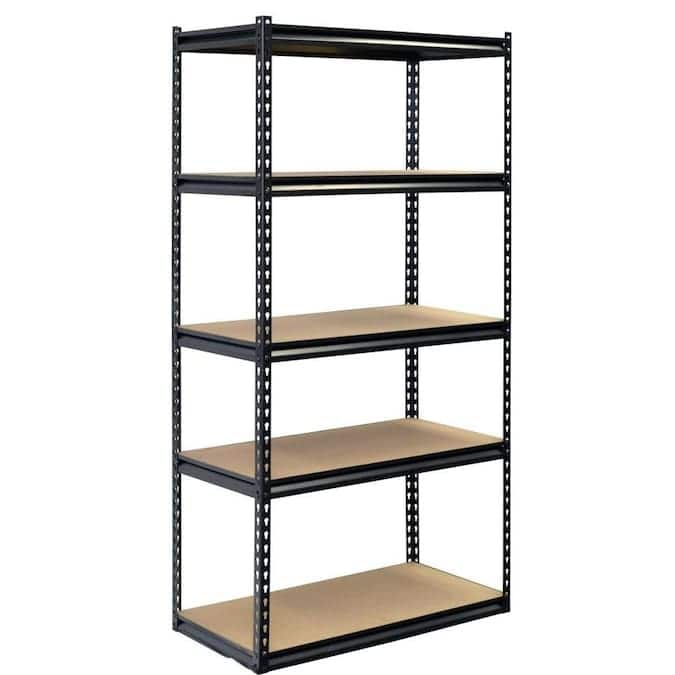 Project Source 18-in D x 36-in W x 72-in H 5-Tier Steel Utility Shelving Unit for $39.99 at Lowe's B&M YMMV