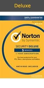 Norton Security Deluxe - 5 devices (Key Card) $20.99 - Amazon - AMEX offer