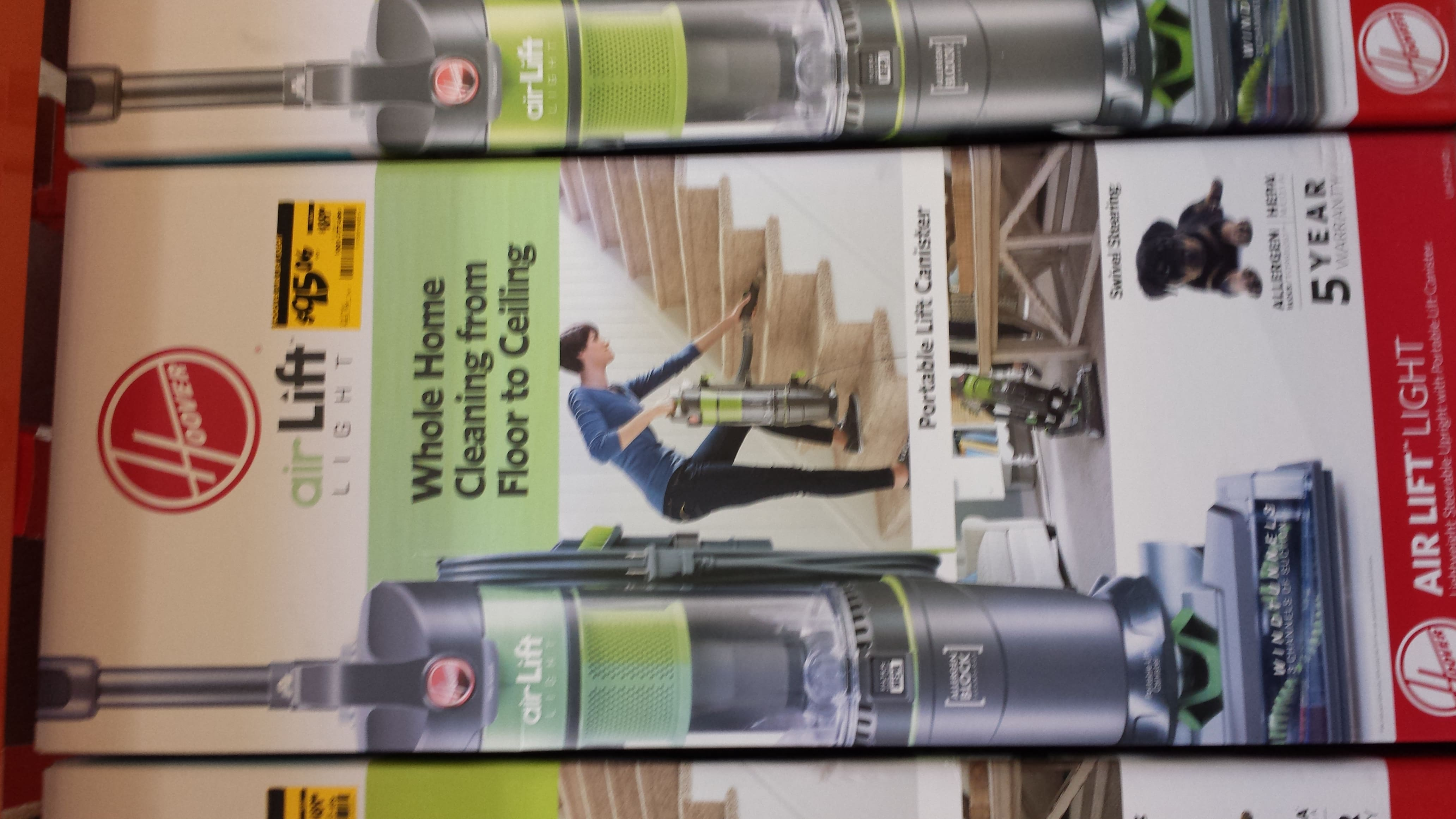 B&M, Home Depot: Hoover Air Lift Light Bagless Upright Vacuum and Canister Vacuum Cleaner Combo Model # UH72540 : $95.06, reg. $189.00 YMMV