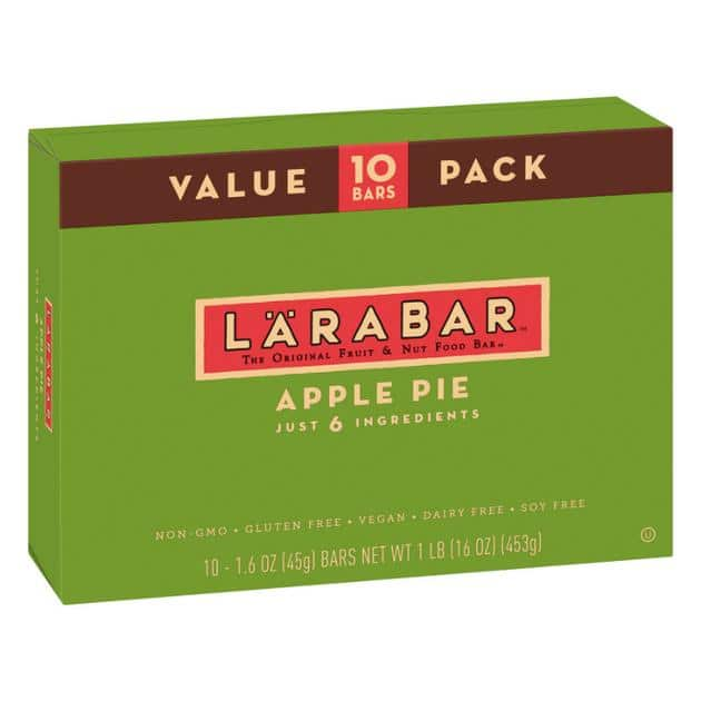Larabar Apple Pie Bars 10ct - 1.6oz  $2.00 + shipping - Limit 2 ($11.61 for 2 boxes incl shipping)