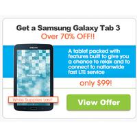 FreedomPop Deal: Freedompop Samsung Galaxy Tab 3 $99.99 100% free LTE Internet