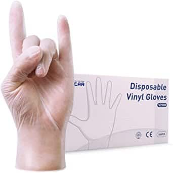 100 pack Vinyl Disposable Gloves 3mil Latex Free (4 sizes) $6.65 + Free shipping w/ Prime or $25+