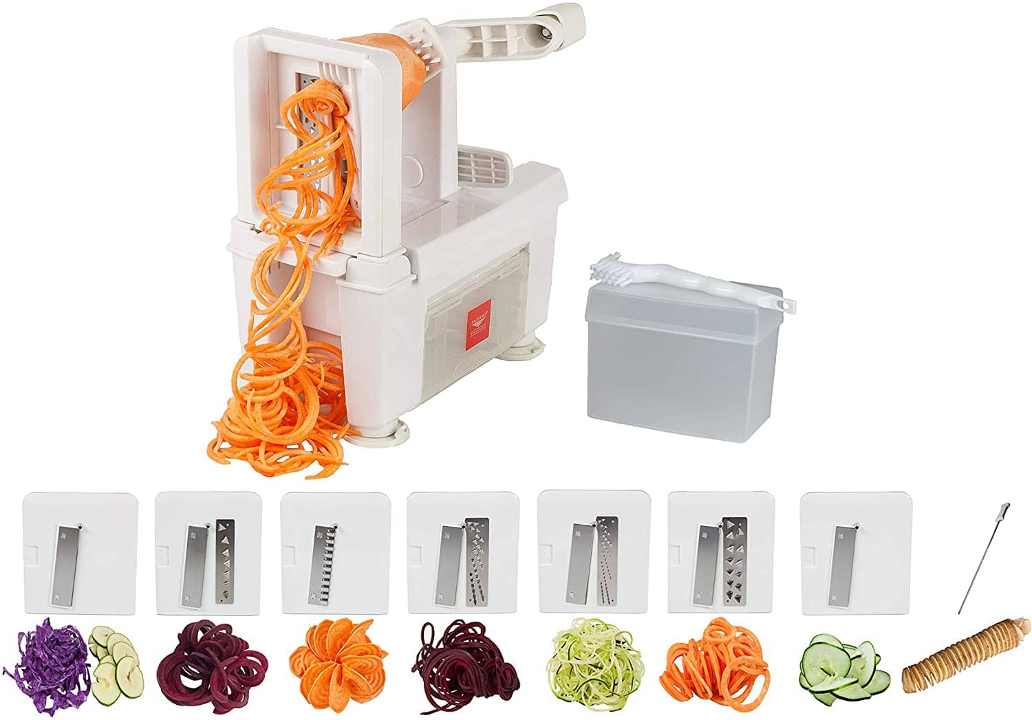 Spiralizer, Paderno World Cuisine 8-Cut Collapsible Folding 7-Blade, White  $3.93