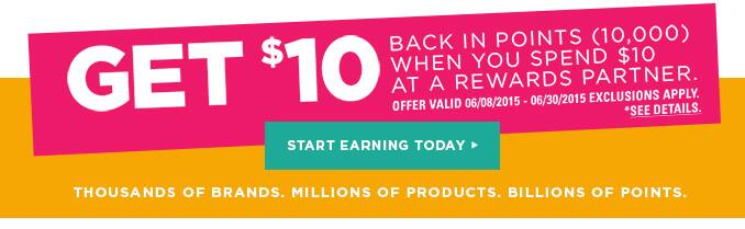 Shop Your Way Rewards - Get $10 Back in Points When You Spend $10 at a Rewards Partner