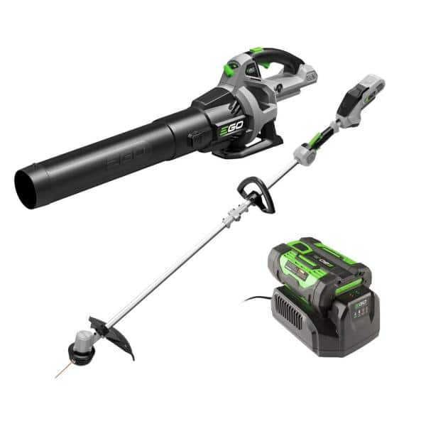 YMMV - Ego 56V Lithium-Ion Cordless Electric 15 in. String Trimmer & 530 CFM Blower Combo Kit, 2.5 Ah Battery and Charger Included $199