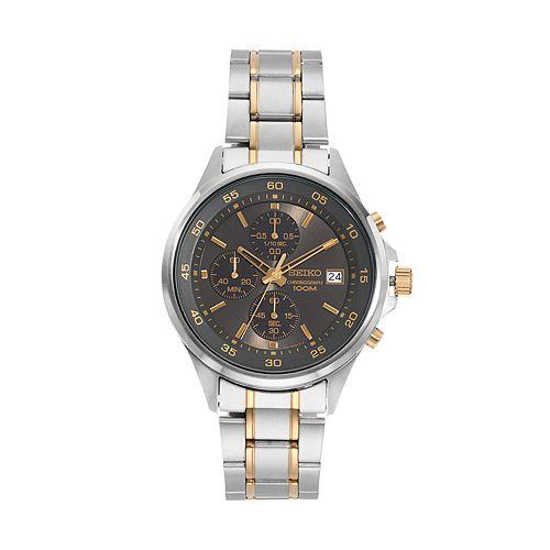 Seiko Men's Chronograph watches $59.99 + Free shipping + $10 KOHLS CASH