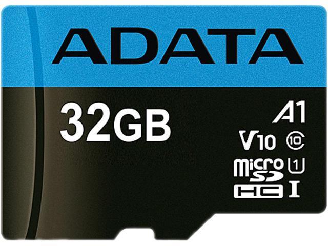 ADATA Premier microSDHC UHS-I / Class 10 V10 A1 Memory Card with SD Adapter 32GB $4.99/64GB $8.99/128GB $17.99/256GB $44.99 @ NewEgg Free Shipping