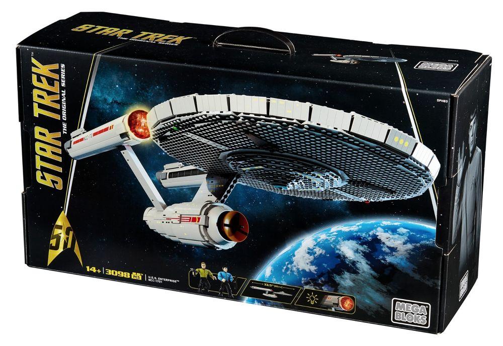 Mega Bloks Star Trek U.S.S. Enterprise NCC-1701 3098 Pieces $71.99 + Free shipping