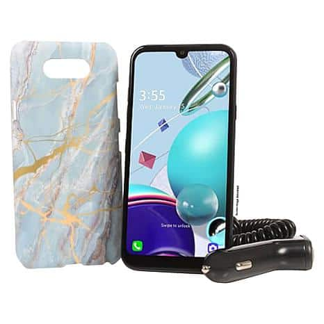 """TracFone LG K31 Rebel 5.7"""" HD+ w/1500 Minutes/Texts/Data HSN Free Ship TWO pack phones $99.99 PLUS save $20 OFF on your FIRST purchase with code HSN2020"""