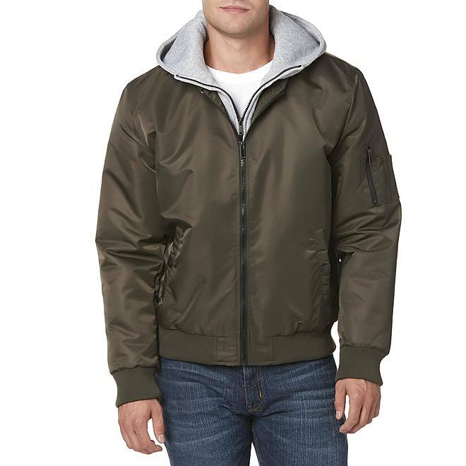 Roebuck & Co. Men's Layered-Look Hooded Jacket $40.00, FS on $49+
