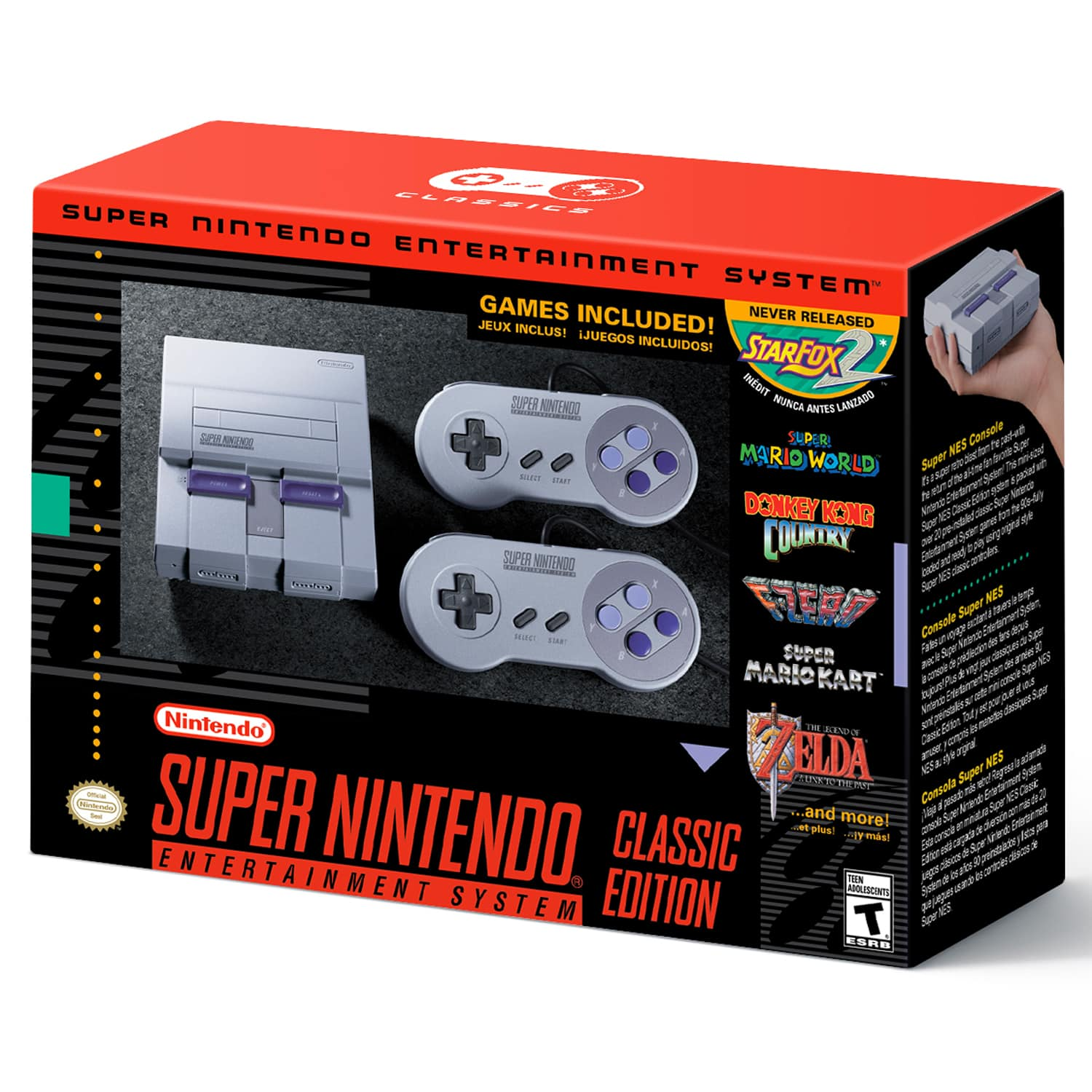 SNES Classic at Walmart.com daily 11/15 - 11/17 at 11 AM PST $79.99