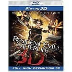 Resident Evil: Afterlife [Blu-ray 3D] + Resident Evil: Retribution [Blu-ray- 3D] $21.79 Shipped