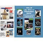 "Target 25% Off Any Xbox or PlayStation Game When You Reserve a Game For a $1 ""In-Store Only ""10/4-10/10"""