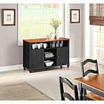 "Better Homes and Gardens Autumn Lane Black Buffet For 55"" TVs $60.54 Shipped"