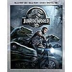 Jurassic World 3D (Blu-ray 3D + Blu-ray + DVD + DIGITAL HD) + $5 Amazon GC $27.99 @ Amazon