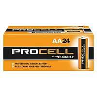 Zoro Deal: Duracell Procell Alkaline Batteries: 12-Ct D-Cells $8, 24-Ct AA
