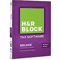 H&R Block Deal: H&R Block Basic Tax Software $10, Deluxe + State