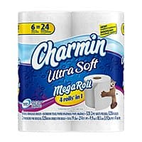 Amazon Deal: 18-Count Charmin Mega Roll Ultra Soft or Ultra Strong Toilet Paper