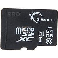 Amazon Deal: 64GB G.SKILL Class 10 UHS-1 MicroSDXC Memory Card